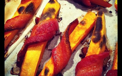 Bacon Wrapped Yam Fries, a Paleo recipe!