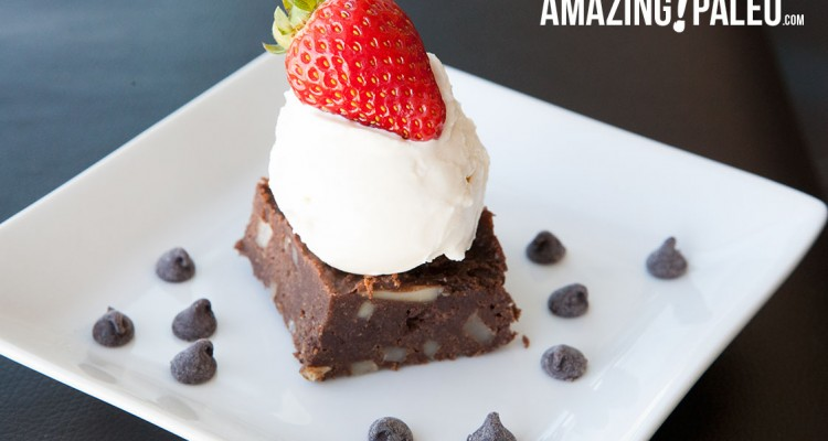 Paleo Dark Chocolate Chip Brownies!