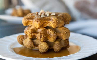 Amazing Foodie's Vegan Pumpkin Waffles!