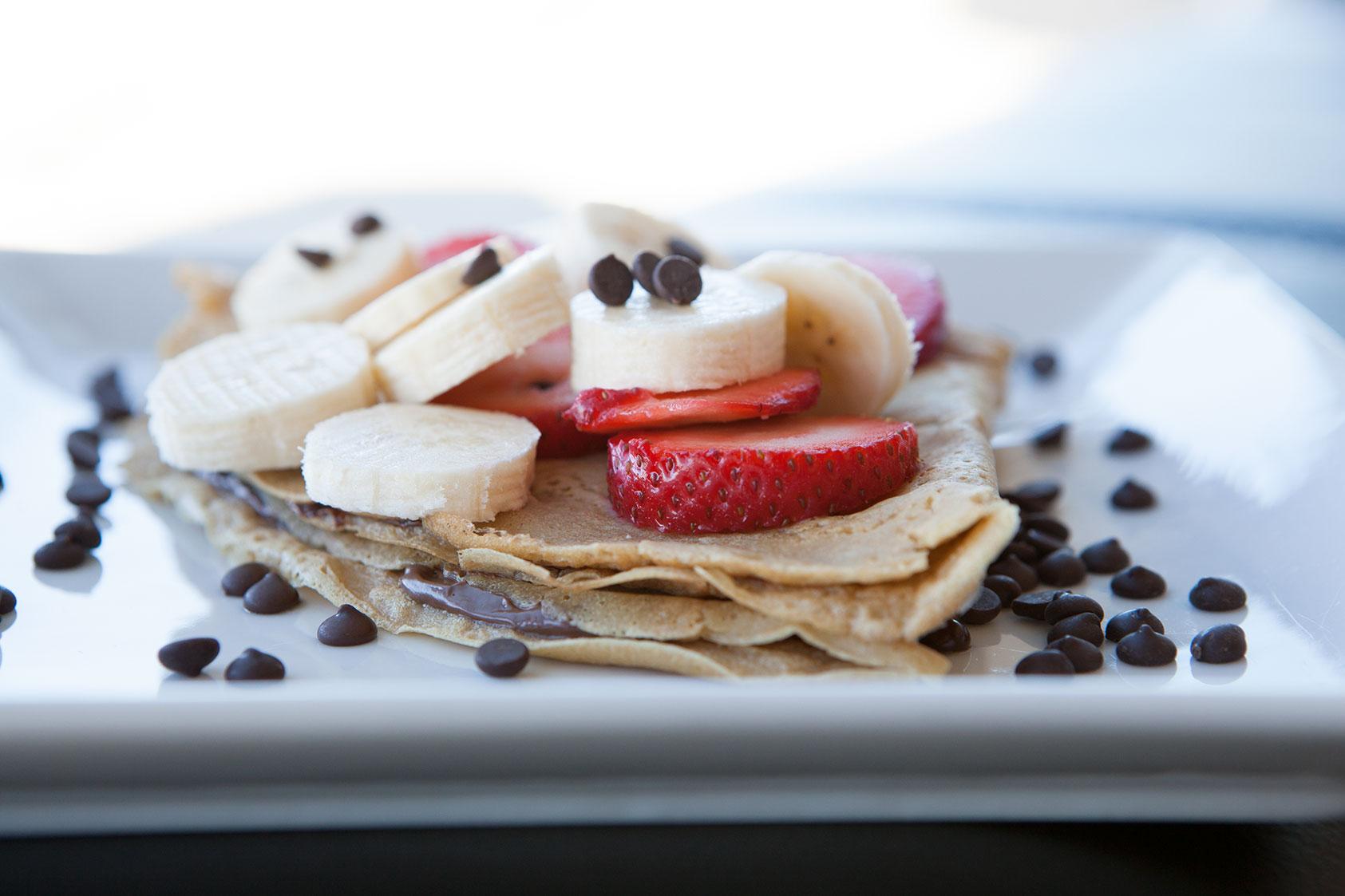 Nutella Strawberry Banana Crepes