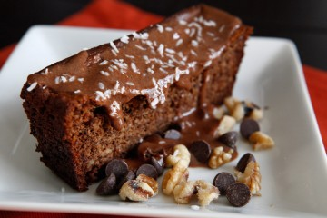 Paleo Banana Bread Topped With Paleo Nutella recipe!