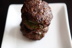 Bacon-Pesto Stuffed Burgers recipe!