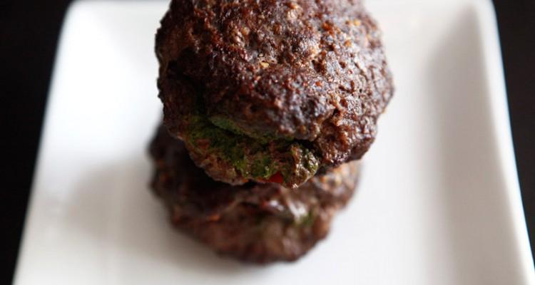 Bacon-Pesto Stuffed Burgers recipe!
