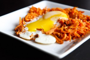 Paleo Sweet Potato Hash with Sunny Side Up Egg recipe!