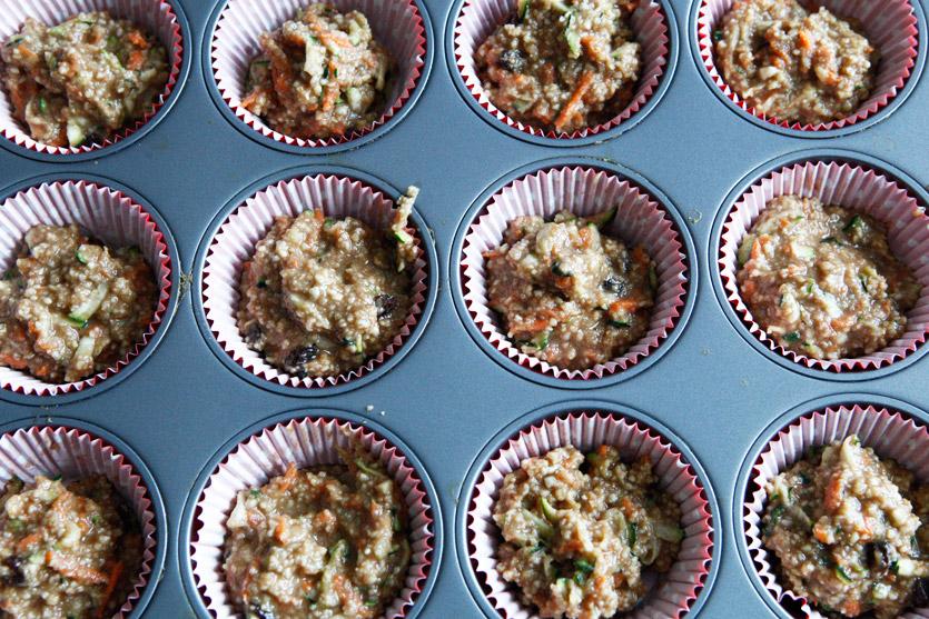 Carrot & Zucchini Muffins, a gluten free recipe!