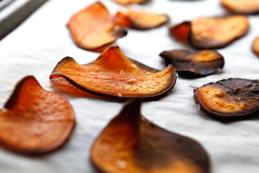 Sweet Potato Chips, easy Paleo recipe!