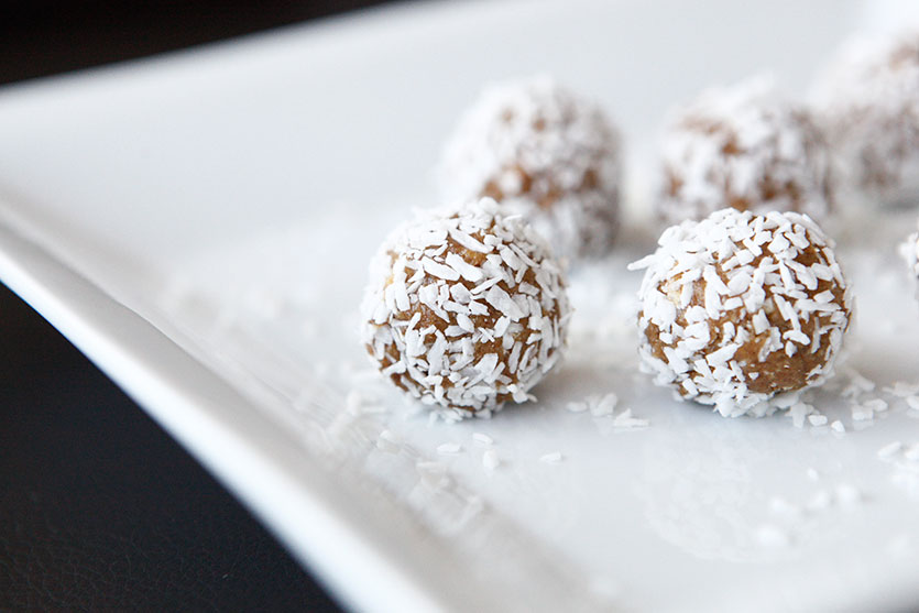 Rolled Dates, a Paleo recipe!