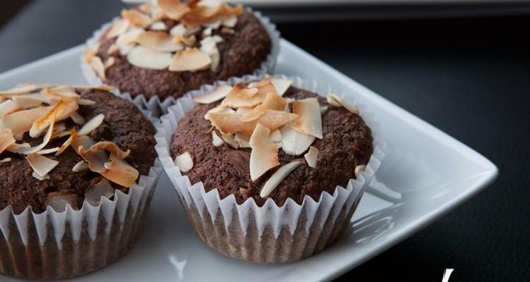 Paleo Dark Chocolate Coconut Muffins
