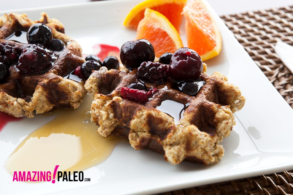 Paleo Zesty Orange Waffles - a gluten free recipe!