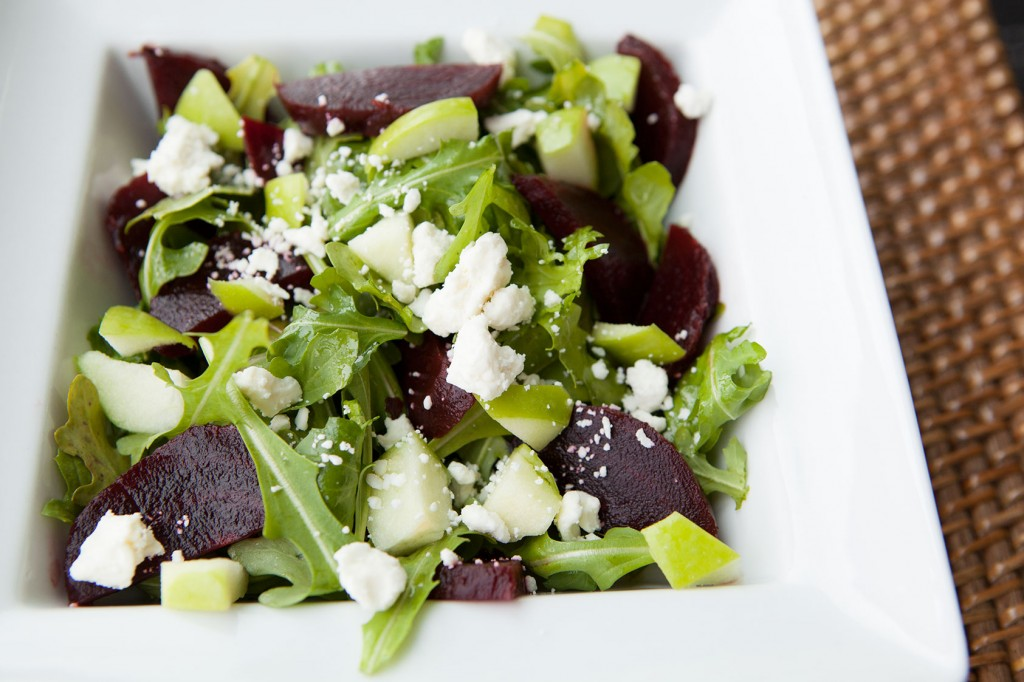 Baby Arugula Salad with Beets and Feta Cheese recipe!