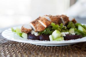Baby Arugula Salad with Beets and Feta Cheese recipe!