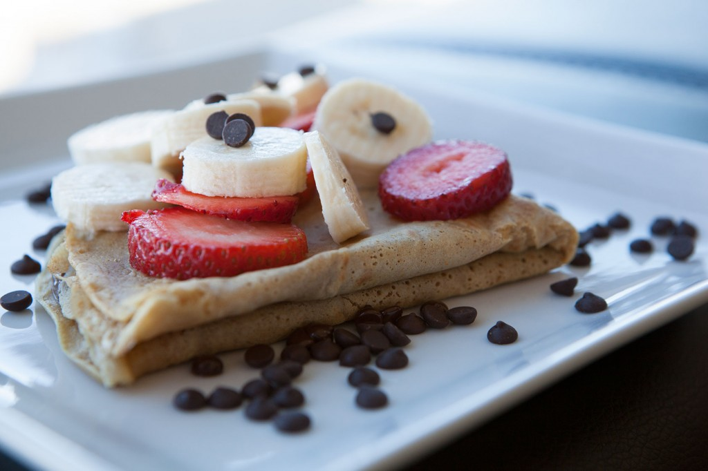 Nutella Strawberry Banana Crepe recipe by AmazingFoodie.com!