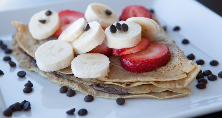 Nutella Strawberry Banana Crepes
