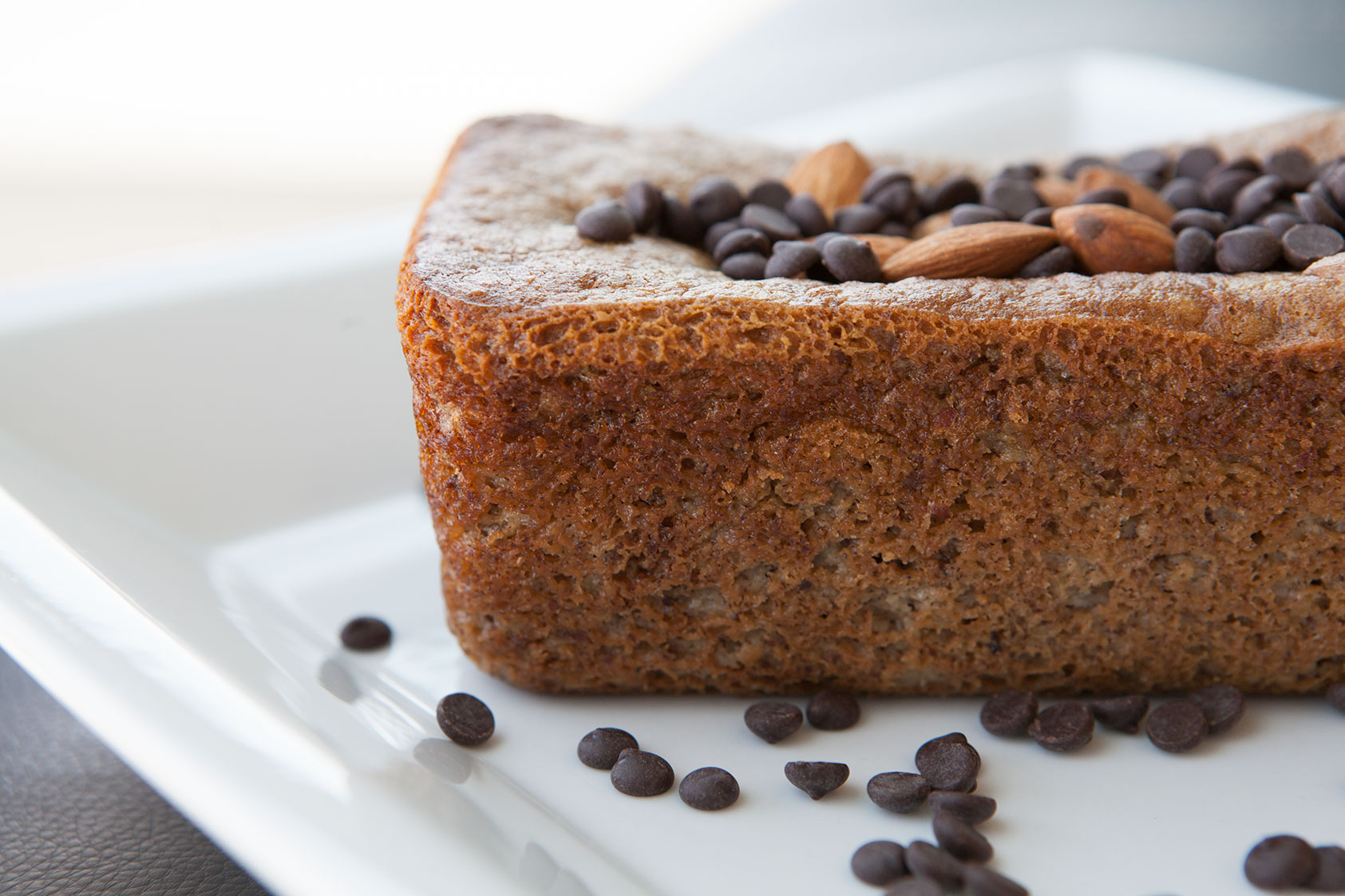 Mini Paleo Banana Bread Loaves with Chocolate Chips & Honey