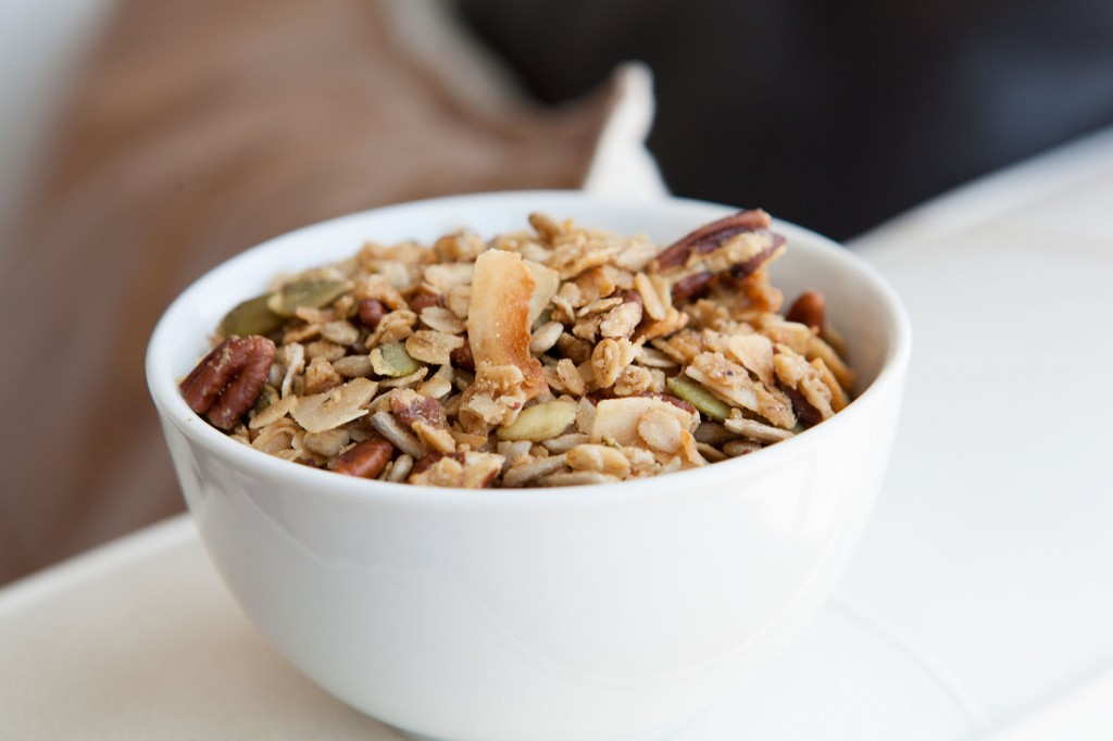 Maple Pecan Granola. Simple, yet delicious recipe!