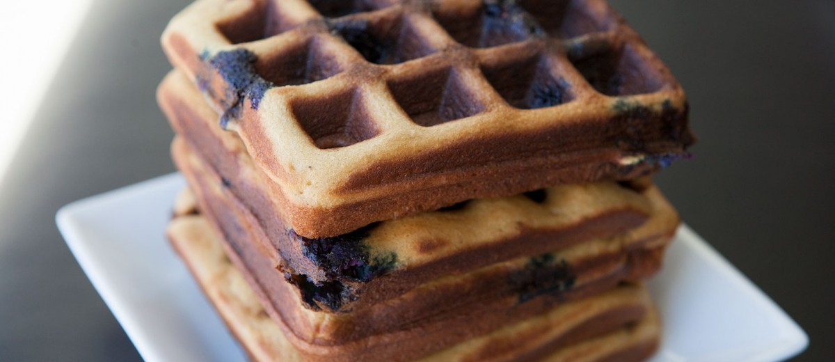 Blueberry Cashew Waffles - a Paleo approved recipe!