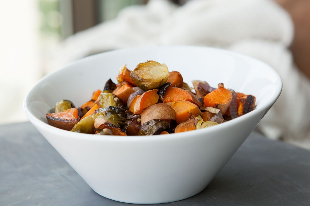 Brussels Sprouts and Sweet Potatoes with Rosemary recipe!