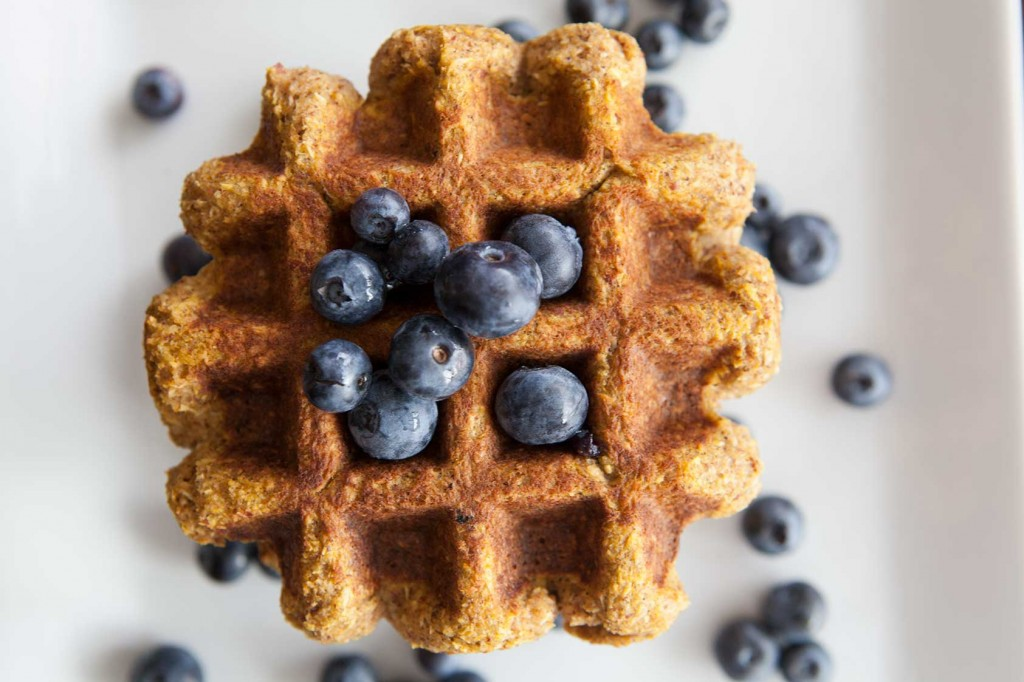 Paleo Pumpkin Coconut Waffle recipe. Gluten free and dairy free!