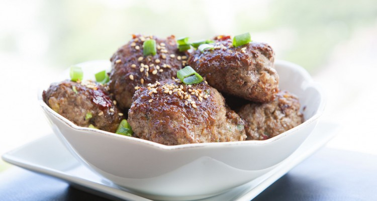 Sweet and Spicy Asian BISON Meatballs
